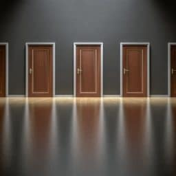 row of doors to choose from